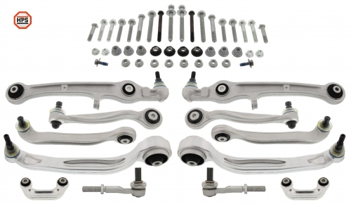 MAPCO 59828/1HPS MAPCO KIT REINFORCED WISHBONE CONTROL ARMS TIE ROD ENDS CONNECTORS + all screws
