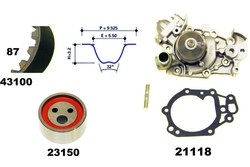 MAPCO 41100 Water Pump & Timing Belt Kit