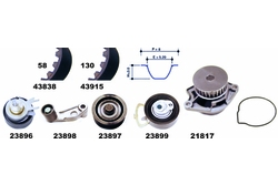 MAPCO 41838 Water Pump & Timing Belt Kit