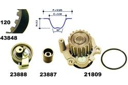 MAPCO 41847 Water Pump & Timing Belt Kit
